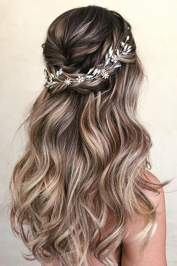 Half Up Half Down Wedding Hairstyles Ideas